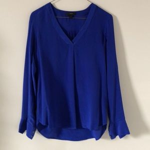 Royal Blue j crew blouse